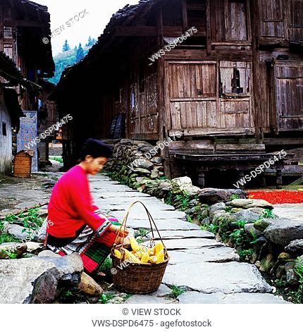 Chinese Minority Ethnic Woman,Guizhou,China