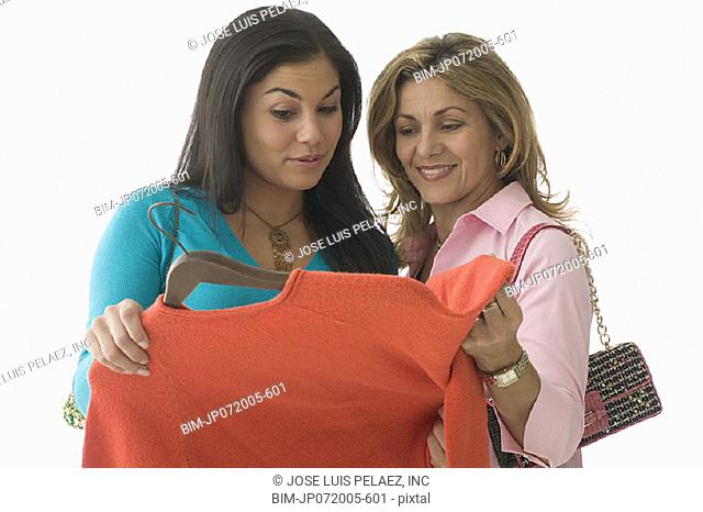 Teen girl shopping with her mother