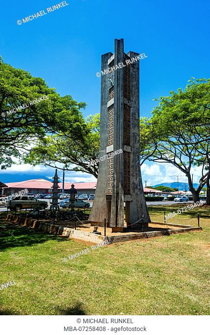 Bell tower in Lihue, capital of the island of Kauai, Hawaii