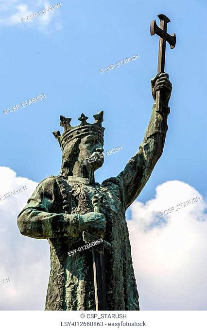 Monument of Stefan cel Mare in Chisinau, Moldova