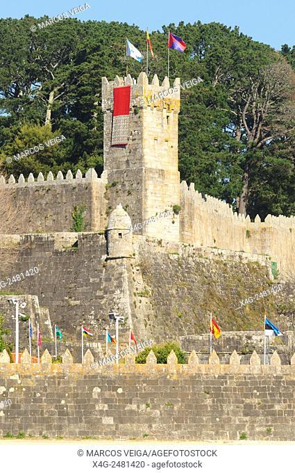 Monterreal fortification. Baiona, Pontevedra, Spain