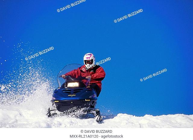 Snowmobile Rider, Whistler, BC