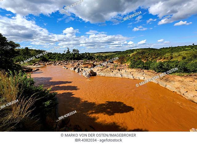 Betsiboka River, red river, Madagascar