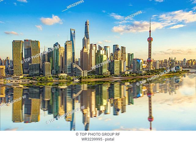 the mirror reflection of the city; Shanghai; China