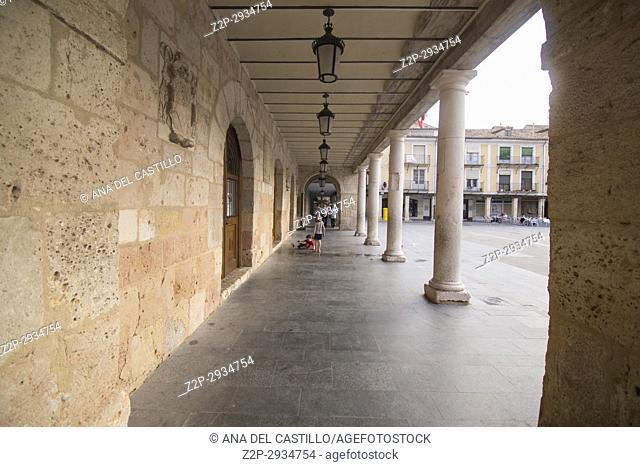 City hall square in Burgo de Osma village Soria province Castile Leon Spain