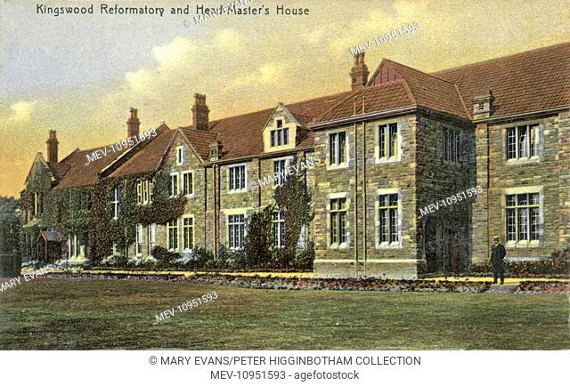 A hand-coloured view of Kingswood Reformatory, near Bristol