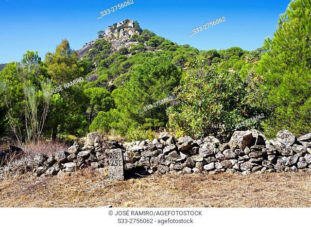 Castrejon hill in Cebreros. Avila. Castilla Leon. Spain. Europe