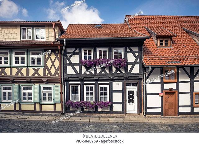 Restaurierte historische Wohnhäuser in Wernigerode am Harz - Wernigerode, Sachsen-Anhalt, Germany, 22/09/2016