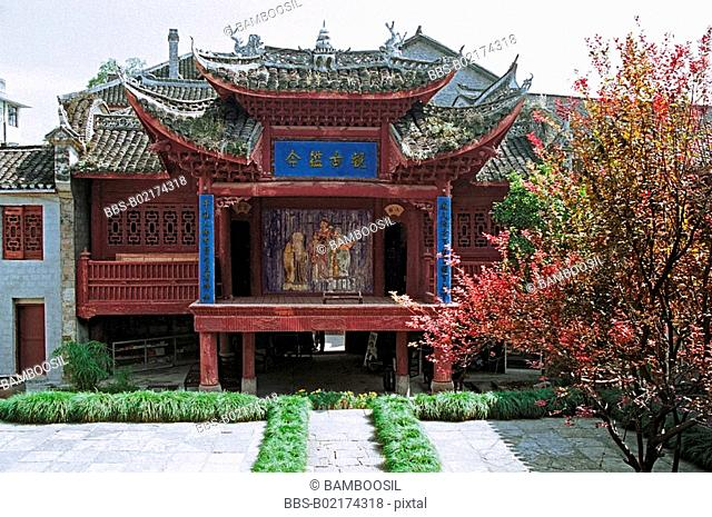 Drama stage in Chaoyangong in Fenghuang ancient city, Fenghuang, Xiangxi Prefecture, Hunan Province, People's Republic of China
