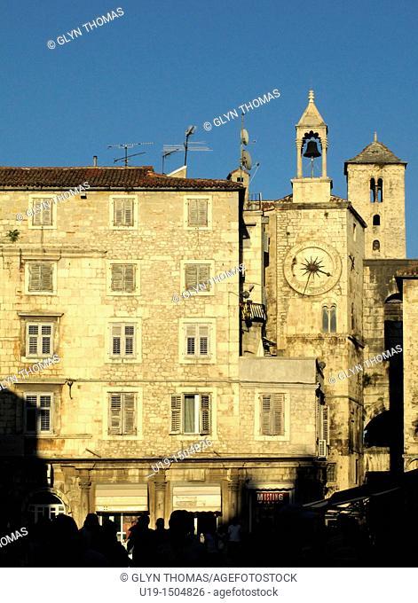 Narodni Trg and Iron Gate, Diocletian's Palace, Split, Croatia