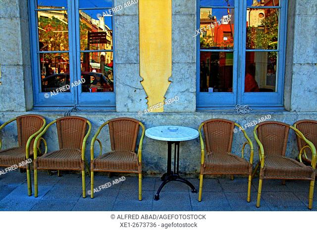 Chairs, Centre Fraternal, Palafrugell, Girona, Catalonia, Spain