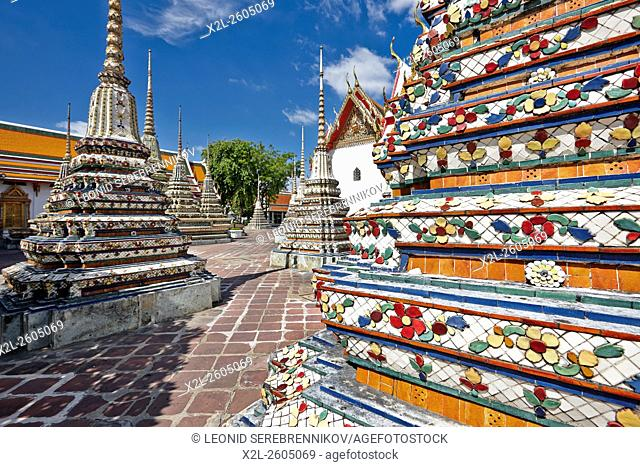Pagodas of the Wat Pho Temple, Bangkok, Thailand