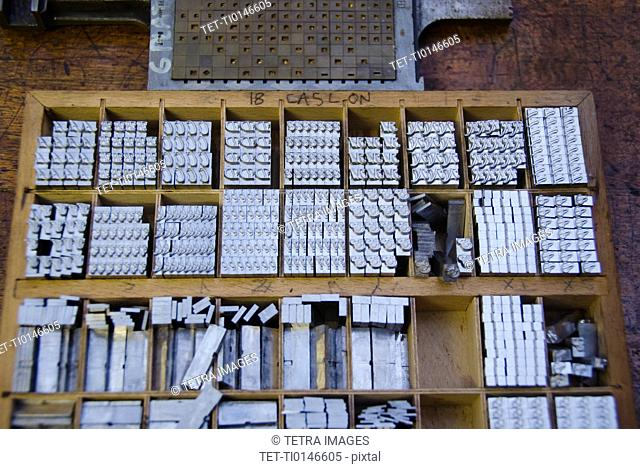 Printing blocks in boxes