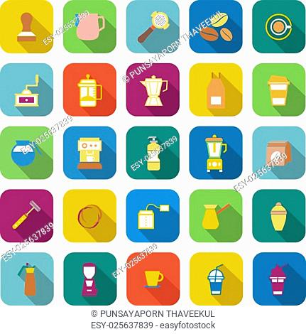vector icons on color background, stock vector