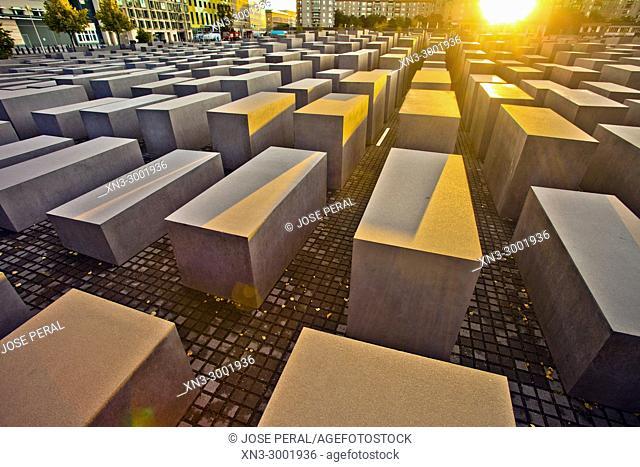 Holocaust Memorial, Memorial to the Murdered Jews of Europe, by Peter Eisenmann, Berlin, Germany, Europe