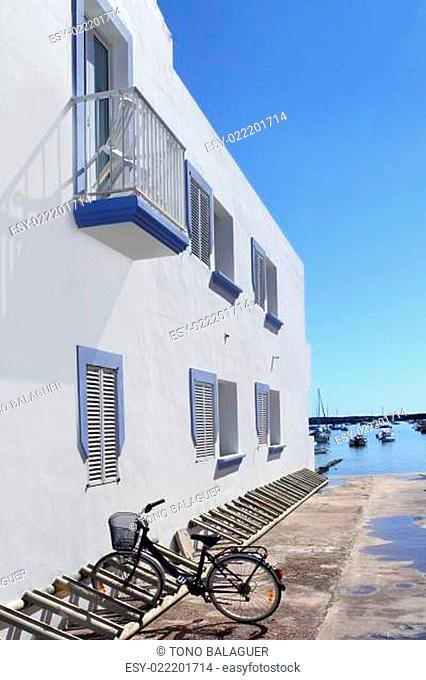 white house bicycle Formentera estany des peix