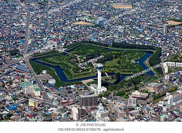 Aerial view of District, Hakodate City