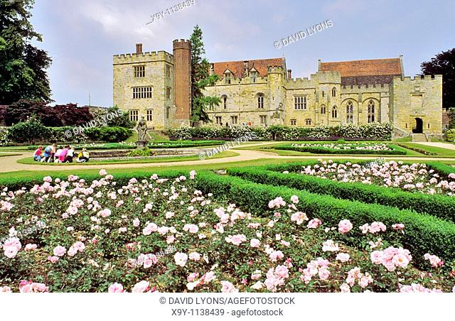 Penshurst Place stately historic house home garden near Royal Tunbridge Wells, Sevenoaks, Tonbridge, in Kent, England