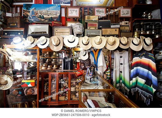 Store hats and traditional costumes