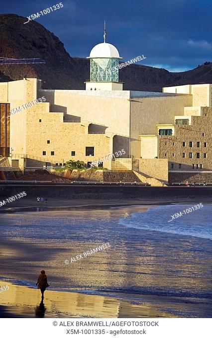 Auditorio Alfredo Kraus on Las Canteras Beach in Gran Canaria