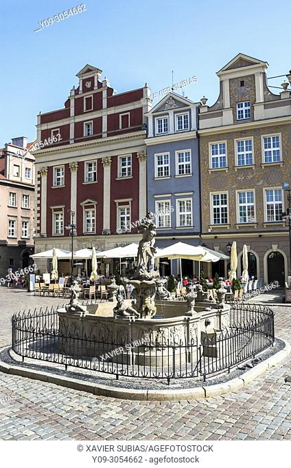 Proserpina's fountain, Old Town Square, Poznan, Poland