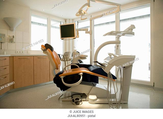 Empty dentists chair