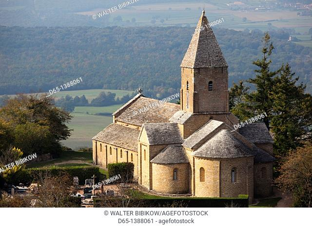 France, Saone-et-Loire Department, Burgundy Region, Maconnais Area, Brancion, Eglise St-Pierre church