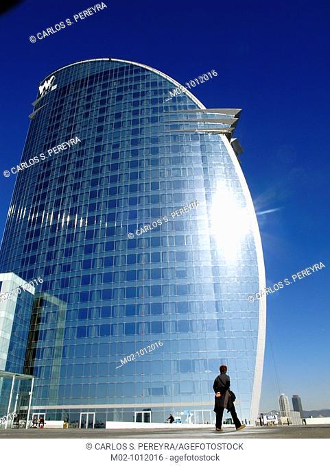 Hotel W by Architect Ricardo Bofill in Port Vell, Barcelona, Spain