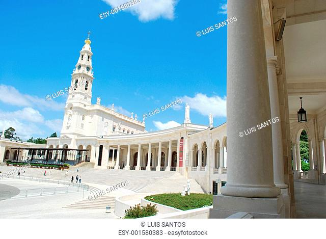 View of the Sanctuary of Fatima, in Portugal