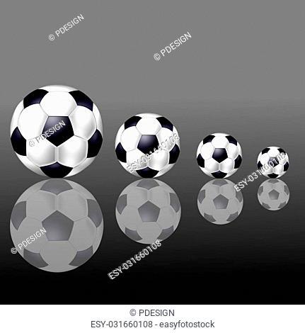 soccer balls background grey