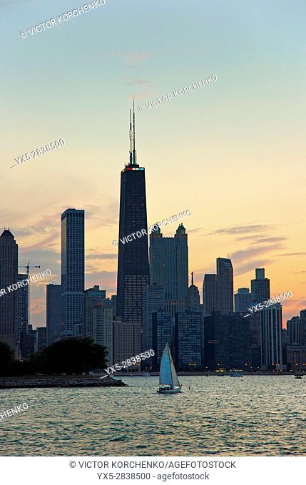 Chicago skyline, view from Michigan Lake