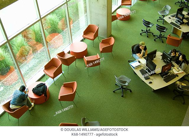students study at Langara College, Vancouver, BC, Canada