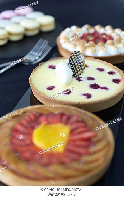Three flan desserts