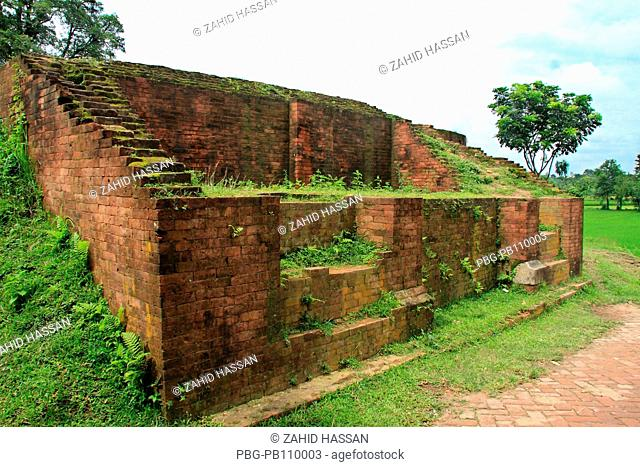 Govinda Bhita a high mound, traditionally ascribed to be the site of a Govinda temple and is located outside the northern rampart of Mahasthangarh of Bogra...