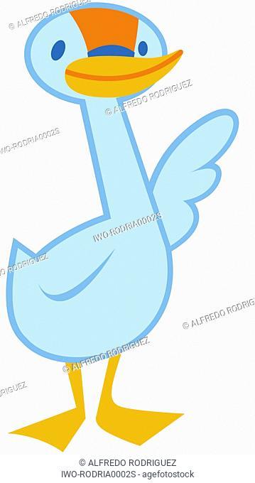 Blue Duck Waving