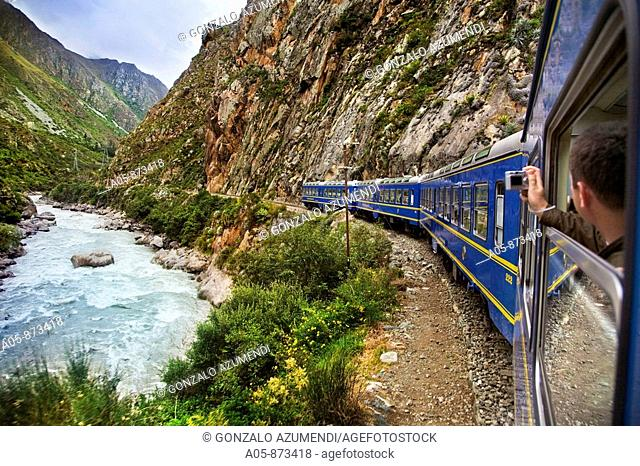 Train from Cuzco to Aguascalientes, Peru