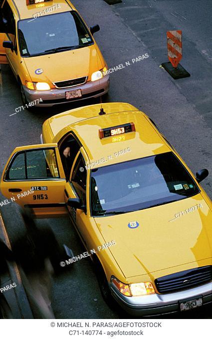 Taxi cabs. New York City. USA