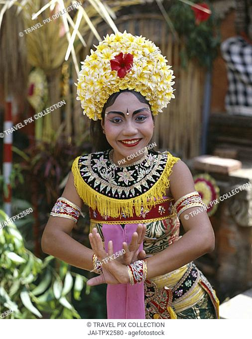 Legong Dancer / Woman Dressed in Traditional Dancing Costume, Bali, Indonesia