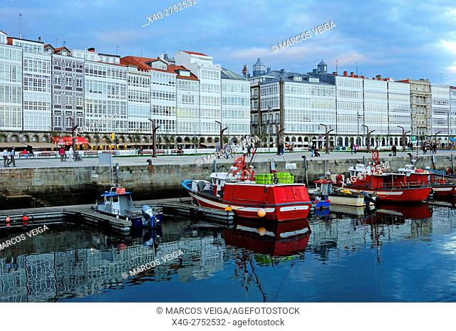 Port of A Coruña, and marina