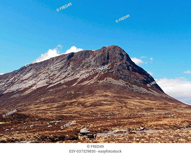 Devil's point seen from Lairig Ghru, Cairngorms mountain, Scotland in Spring