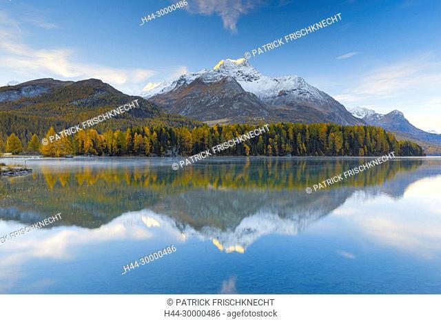 Silsersee, Piz da la Margna, 3158 m, Ober Engadin, Graubünden, Schweiz