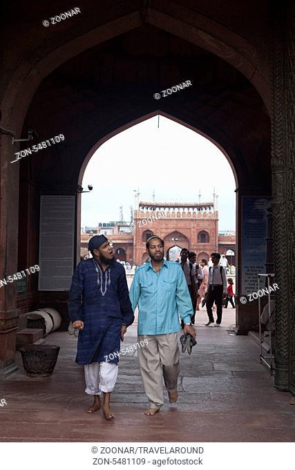 Eingang Moschee Jama Masjid, Dehli, Indien