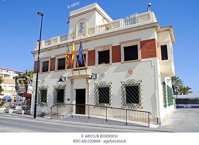 Harbour office, Santa Pola, Costa Blanca, Spanien