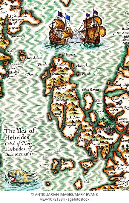 17th century Map of the Isles of Hebrides