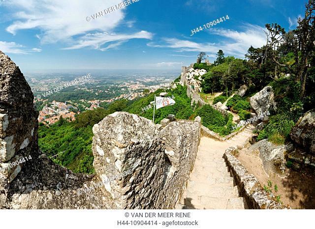 Portugal, Europe, Estremadura, spring, Castelo dos Mouros, Moorish, castle, Sintra