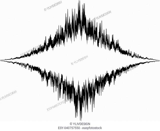 Audio equalizer vibration icon. Simple illustration of audio equalizer vibration vector icon for web