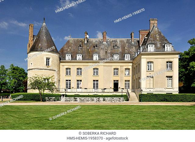 France, Oise, Chaumont en Vexin, castle of Berticheres from the 16th and 17th centuries