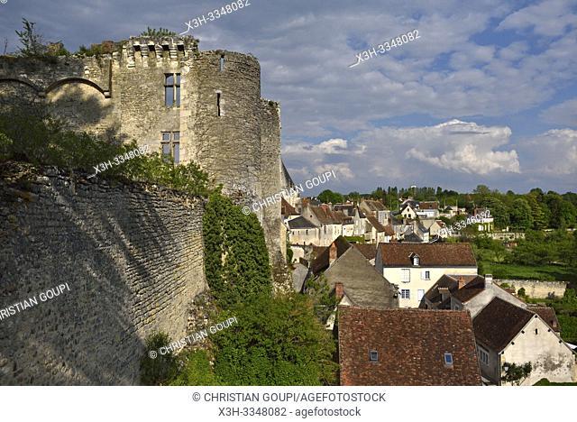 medieval fortress of the Chateau of Montresor, Touraine, department of Indre-et-Loire, Centre-Val de Loire region, France, Europe