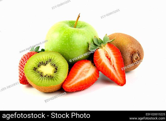 Erdbeere, Apfel, Kiwi