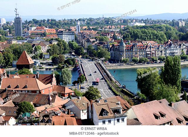 View of Münster on Rhine bridge, Constance, Lake of Constance, Baden-Wurttemberg, Germany